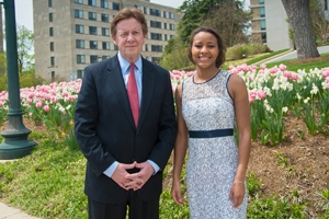 Graduating American University senior Alexis Dobbs wins the President's Award.