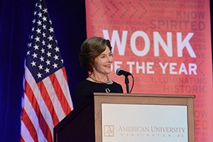 Laura Bush at AU.