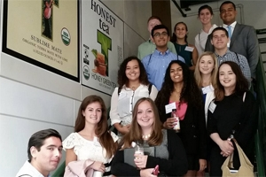 Students visit business in the DC area to begin building their professional network.