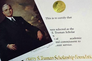 Two American University students have been named Truman Scholars by the Harry S. Truman Scholarship Foundation.