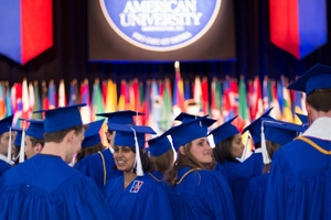 Leaders in journalism, communications, politics, foreign diplomacy, and business will address American University's graduates at the 128th commencement ceremonies.