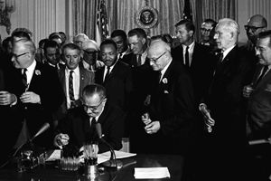 Two American University students will attend a special event commemorating the 50th anniversary of the signing of the Civil Rights Act.