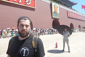 SIS grad Andy Hatcher in China.