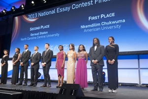 Frederick Douglass Distinguished Scholar Nkemdilim Chukwuma recently won a national essay competition.