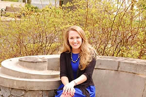 Joelle Appenrodt recently won the SPA outstanding service award for undergraduates.