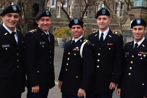A group of the graduating ROTC cadets from American University.