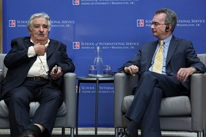 Uruguay president Pepe Mujica paid a special visit to American University.