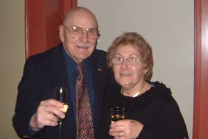John Koutsandreas '50 and his wife.