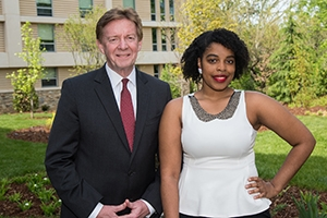 American University President Neil Kerwin and President's Award winner Tatiana Laing.
