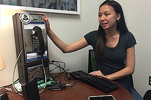Rising senior Eleanor Wright transformed an old payphone into a gaming hub.