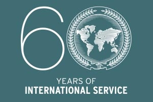 60 years of international service