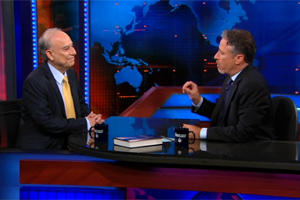 Akbar Ahmed, chair of Islamic Studies appeared on Comedy Central's Daily Show with Jon Stewart in August 2010.
