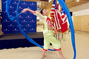 Dancer performs at multicultural alumni event
