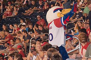 AU mascot Clawed Z. Eagle