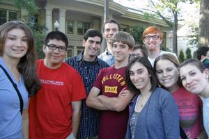 AU Hillel students at Welcome Back BBQ, 2012