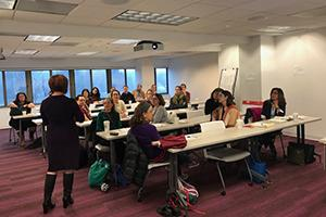 Attendees participate in an AU4U workshop at the School of Professional and Extended Studies.