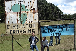 Students at Kenya Equator Crossing