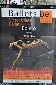 A poster advertising the Bolero ballet in Brussels