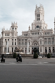 The Plaza Cibeles, an iconic symbol for city of Madrid.
