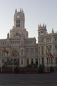 The exterior of the central post office in Madrid