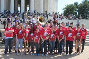 AU Pep Band at the Cherry Blossom Festival