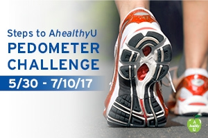 Steps to AhealthyU Pedometer Challenge from May 30 to July 10