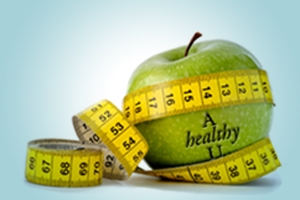 AhealthyU Weight Loss Apple Graphic