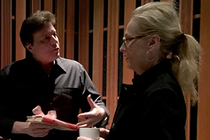 Adam Friedman with Meryl Streep