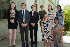 2016 American University Student Achievement Award winners.