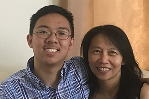 Alex Li and his mother