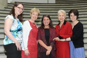 The 2012 Alice Paul Award Recipients pose for a picture with Professor Jen Lawless.
