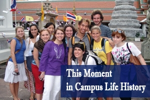 Students explore the Thai-Burma border in 2008, continuing a history of social justice engagement with Alternative Breaks.