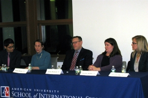 Photo of alums from IER panel Feb 6, 2015.