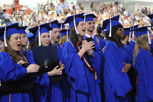 American University Grads Clapping