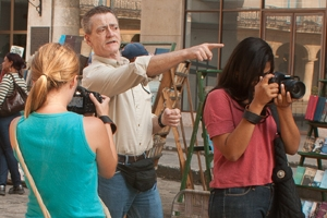 Bill Gentile works with students in Cuba in Fall 2012. In 2011, he taught the class full-time to a group of AU Abroad students about whom he made the documentary,