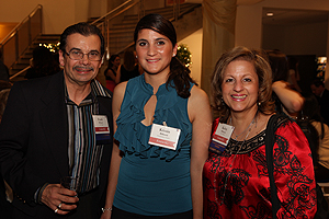AU Parents Kathy and Frank Billanti with their daughter, Kristin '09