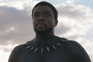 Chadwick Boseman, actor, in the new movie Black Panther. Credit: Marvel Studios.