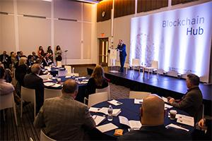 A shot from the Blockchain Forum