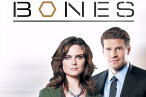 logo for Bones, the hit television series executive produced by American University alum Barry Josephson