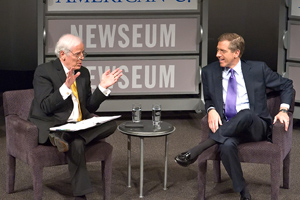 SOC Brian Williams and Nick Clooney at the Newseum's Reel Journalism