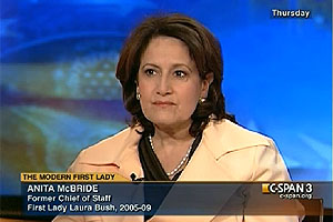 Anita McBride, executive in residence in the School of Public Affairs discusses first ladies on C-SPAN
