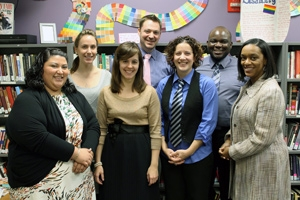 Picture of the Center for Diversity and Inclusion staff in 2013.