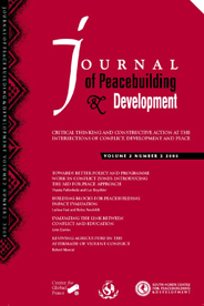 Cover of Journal of Peacebuilding & Development