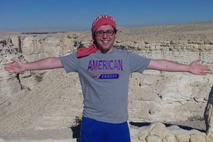 AU student travel in Israel.