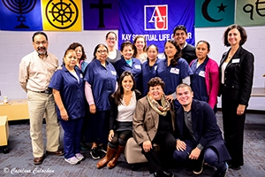 Ana Sol Gutierrez visited CLASE students and housekeeping employees.