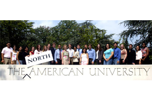 Students posing for a group photo during a Center for North American Studies Summer Institute.