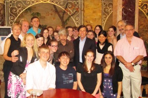 Honors students and faculty in Cambodia for Honors' Study/Travel Program in Spring 2010.
