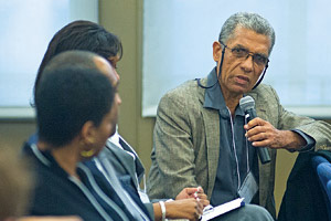 Anthony Harriott speaking at a Symposium on Gangs and Gang Violence in the Caribbean.