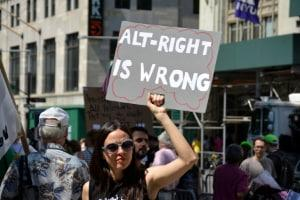 A protest against the alt-right.