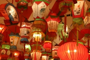 A picture of Chinese lanterns.